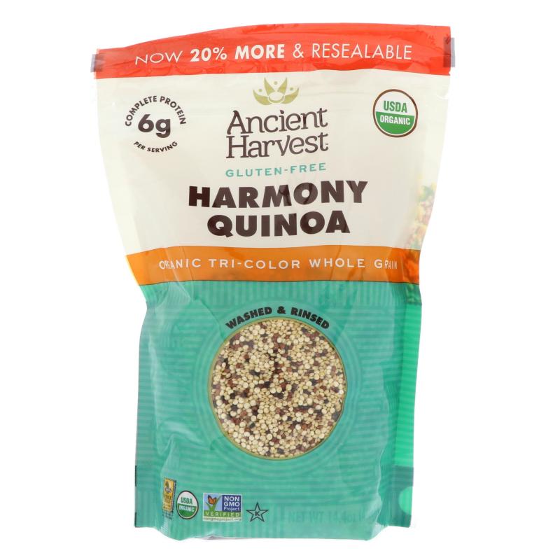 Ancient Harvest, Organic Harmony Quinoa, Tri-Color Blend, 14.4 oz (408 g)