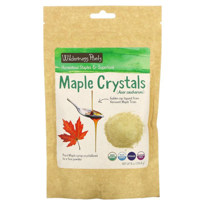 Wilderness Poets, Maple Crystals, 8 oz (226.8 g)