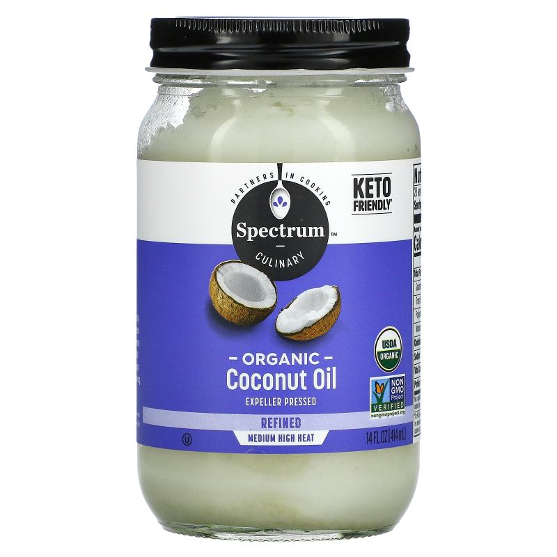 Spectrum Culinary, Organic Coconut Oil, Refined, 14 fl oz (414 ml)