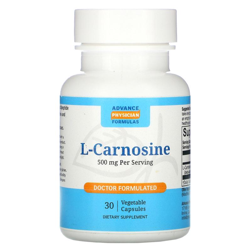 Advance Physician Formulas, Inc., L-Carnosine, 500 mg, 30 Capsules