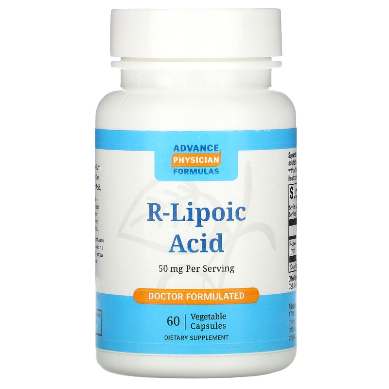 Advance Physician Formulas, Inc., R-Lipoic Acid, 50 mg, 60 Capsules