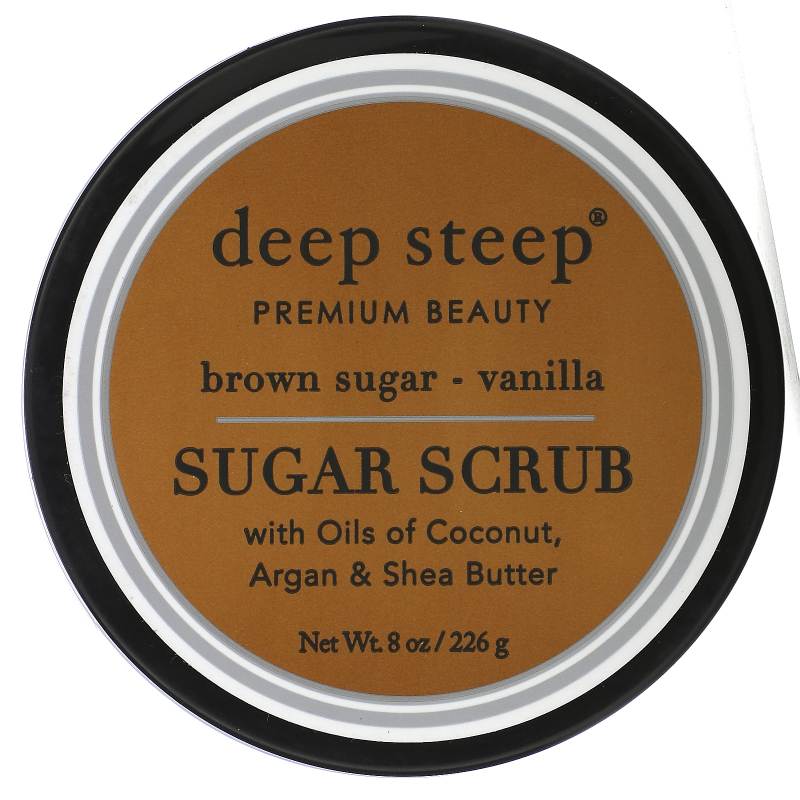 Deep Steep, Sugar Scrub, Brown Sugar - Vanilla, 8 oz (226 g)