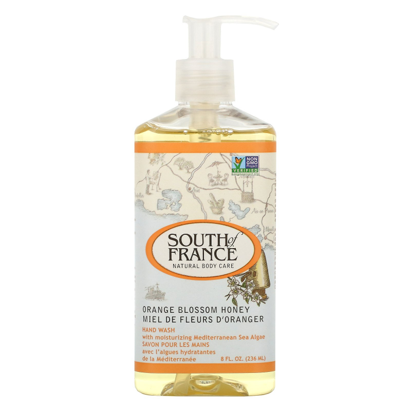South of France, Orange Blossom Honey, Hand Wash with Soothing Aloe Vera, 8 oz (236 ml)