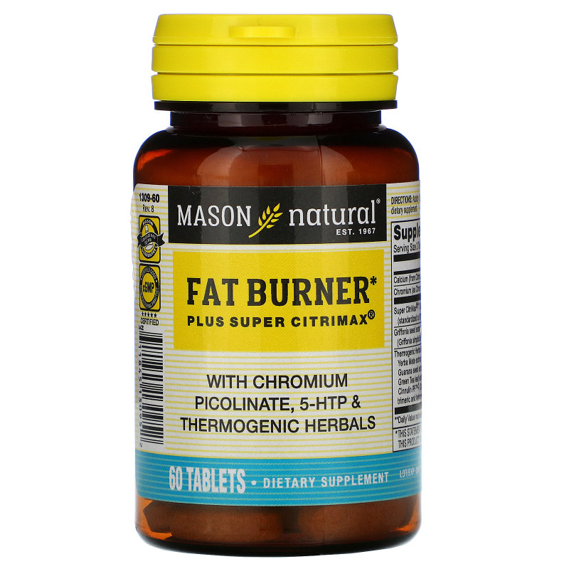 Mason Natural, Fat Burner Plus Super Citrimax, 60 Tablets