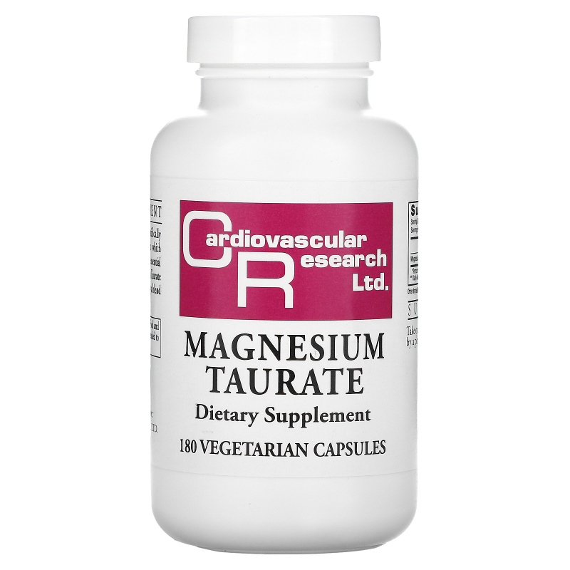 Cardiovascular Research Ltd., Magnesium Taurate, 180 Vegetarian Capsules