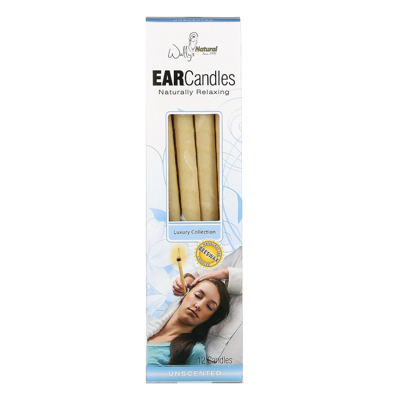 Wally's Natural, Ear Candles, Luxury Collection, Unscented, 12 Candles