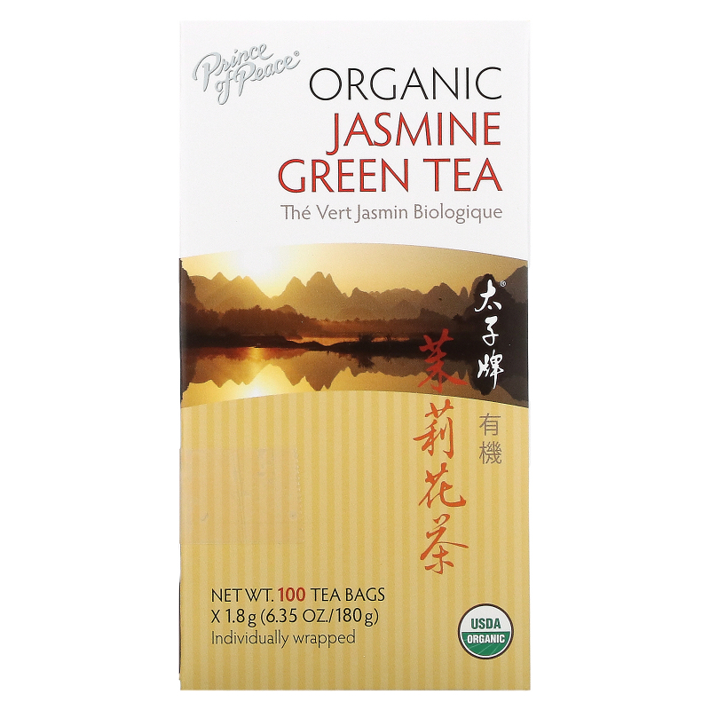Prince of Peace, Organic, Jasmine Green Tea, 100 Tea Bags, 1.8 g Each