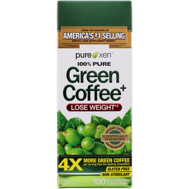 Purely Inspired, Green Coffee+, 100 Veggie Tabs