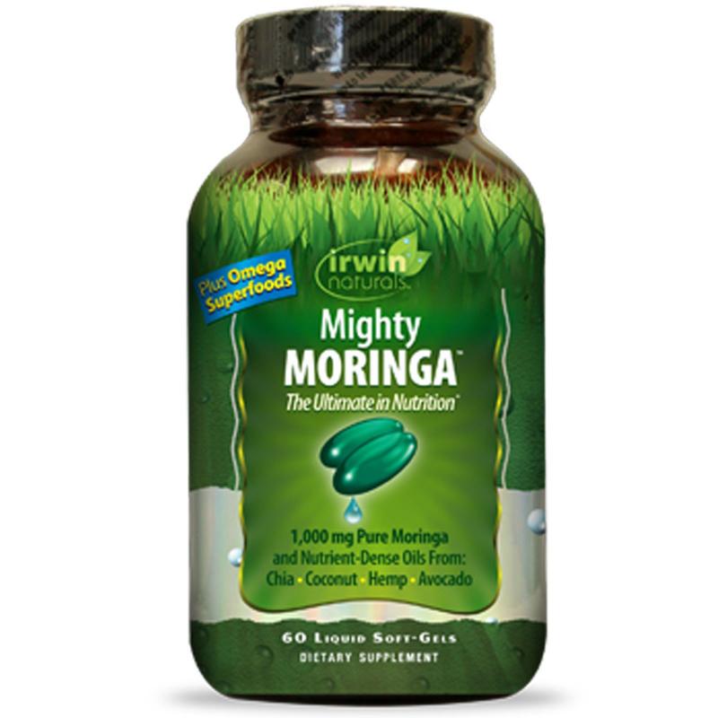 Irwin Naturals, Mighty Moringa, 60 Liquid Soft-Gels