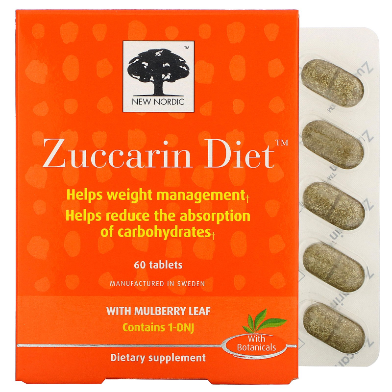 New Nordic US Inc, Zuccarin Diet, 60 Tablets