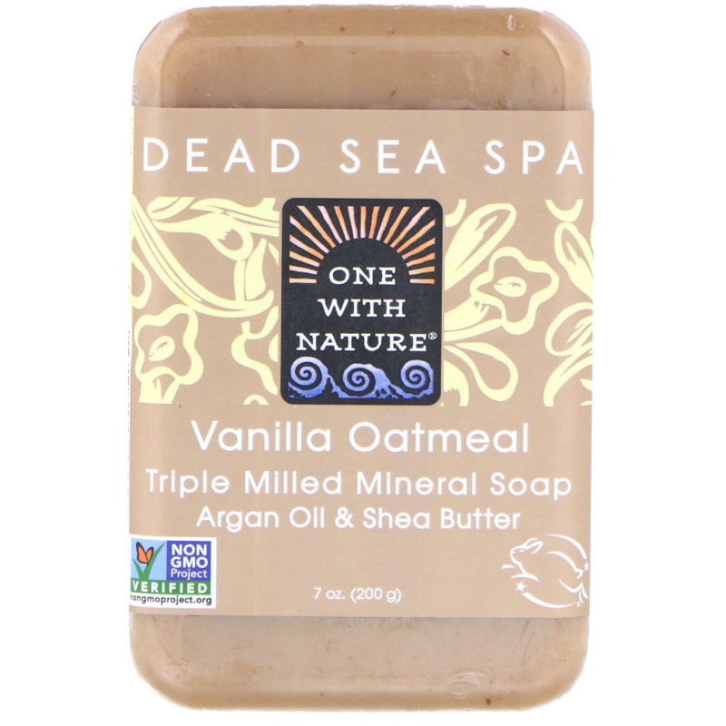 One with Nature, Triple Milled Mineral Soap, Vanilla Oatmeal, 7 oz (200 g)