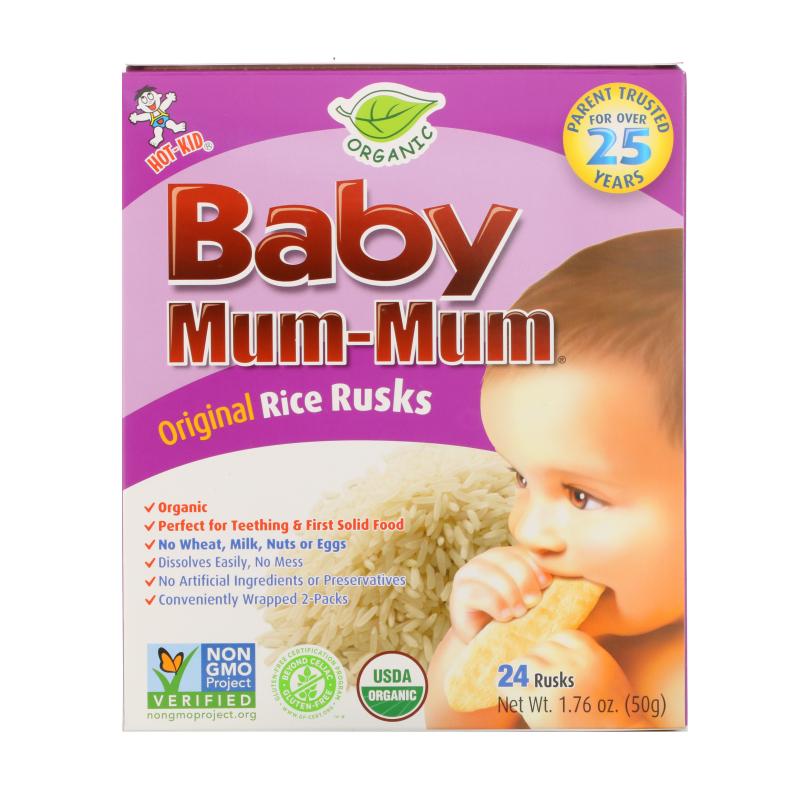 Hot Kid, Baby Mum-Mum, Organic Rice Rusks, 24 Rusks, 1.76 oz (50 g)