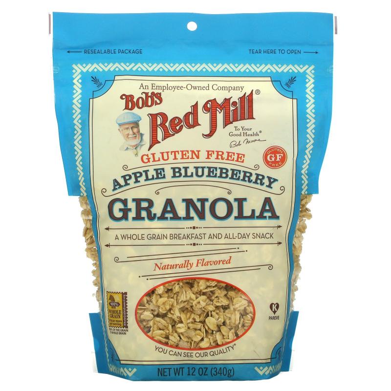 Bob's Red Mill, Apple Blueberry Granola, Gluten Free, 12 oz (340 g)
