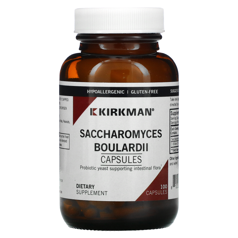 Kirkman Labs, Saccharomyces Boulardii, 100 Vegetarian Capsules