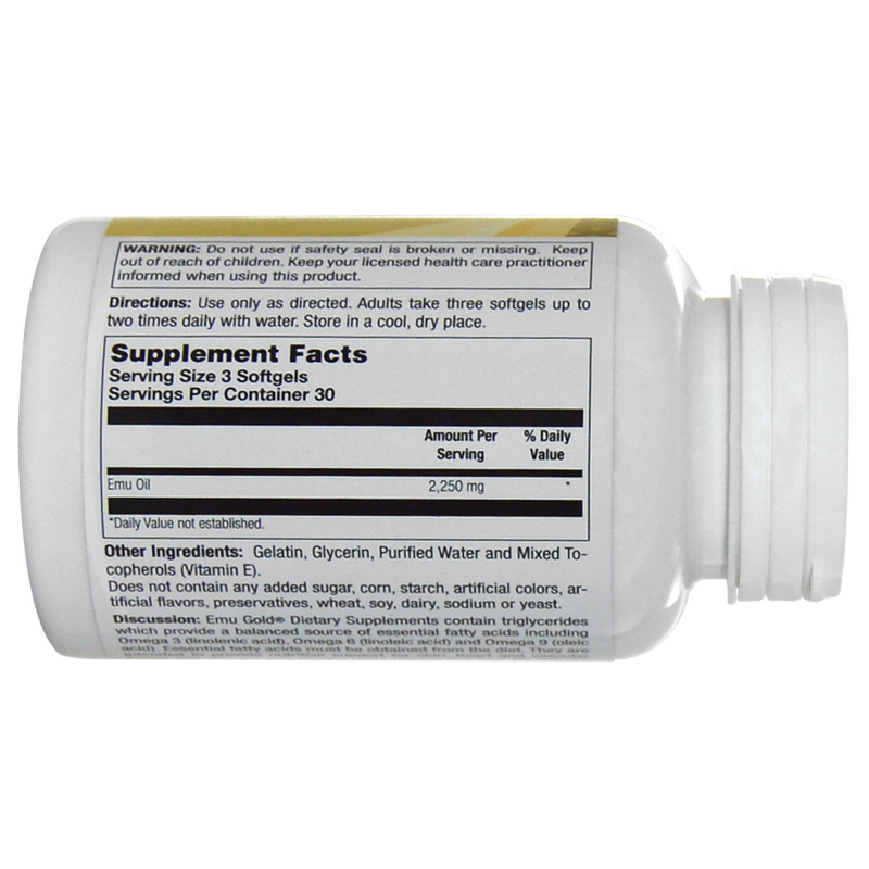 Emu Gold, Fully Refined EMU Oil, Ultra Active, 750 mg, 90 Softgels