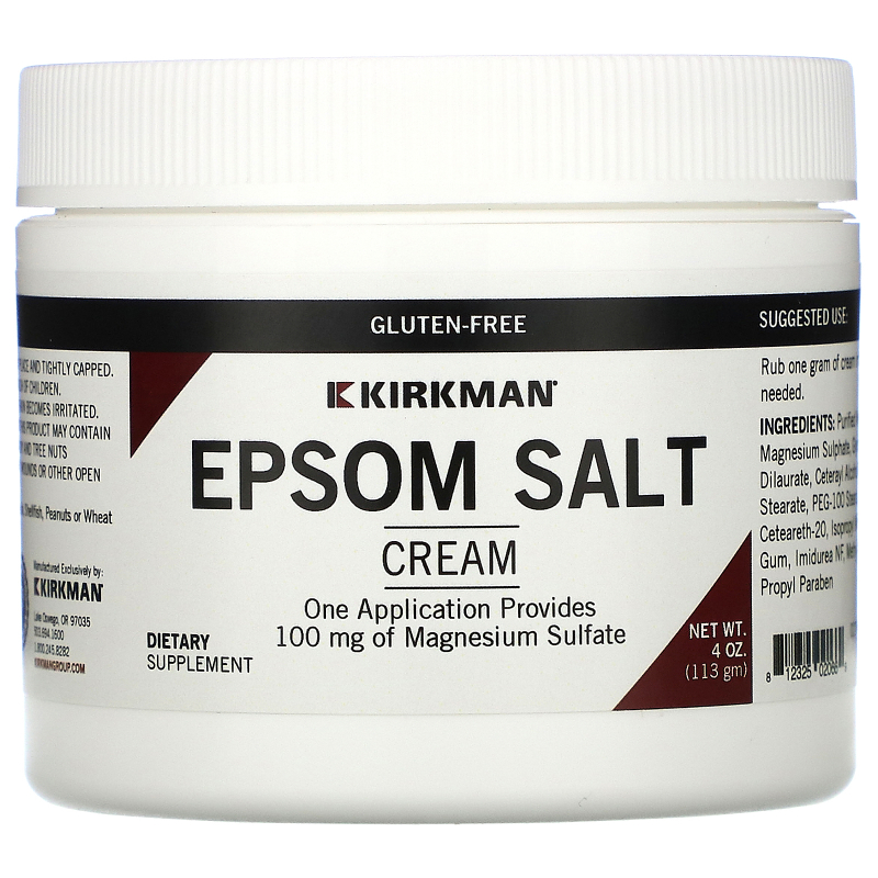 Kirkman Labs, Magnesium Sulfate Cream, 4 oz (113 g)