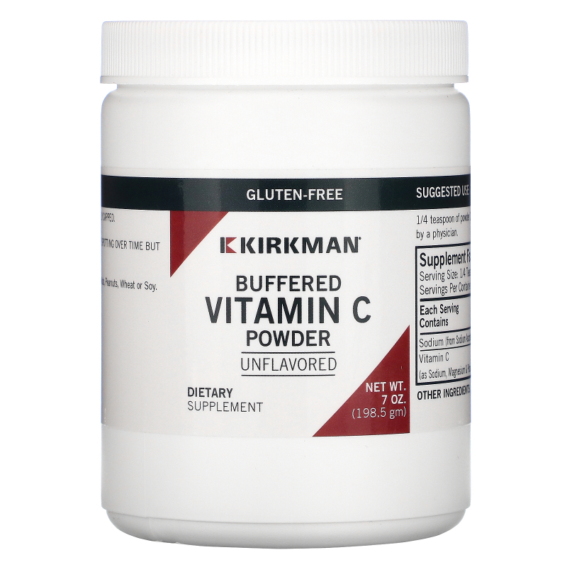 Kirkman Labs, Buffered Vitamin C Powder, Unflavored, 7 oz (198.5 g)