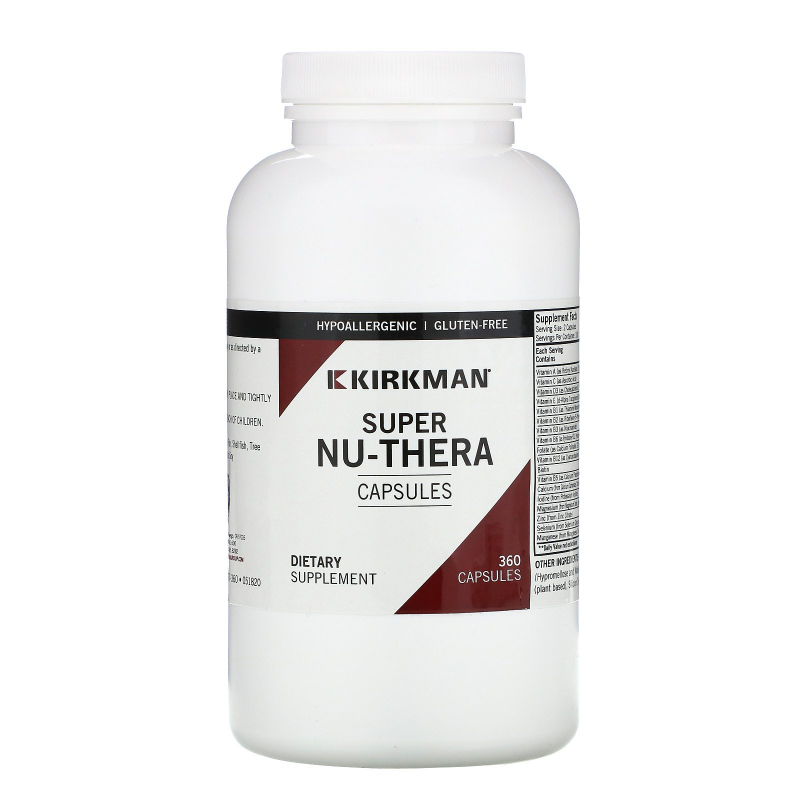 Kirkman Labs, Super Nu-Thera, 360 Capsules