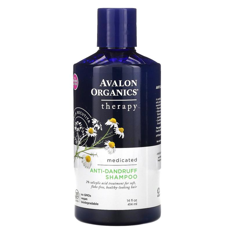 Avalon Organics, Anti-Dandruff Shampoo, Chamomilla Recutita, 14 fl oz (414 ml)
