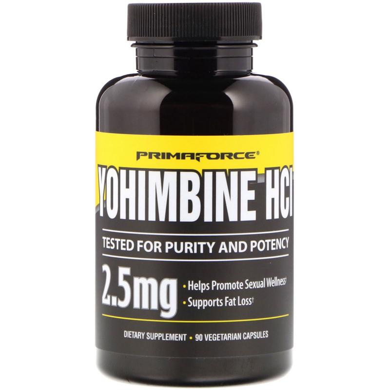 Primaforce, Yohimbine HCl, 2.5 mg, 90 Vegetarian Capsules