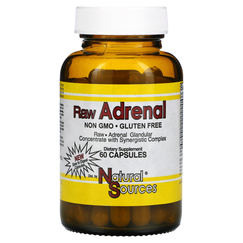 Natural Sources, Raw Adrenal, 60 Capsules