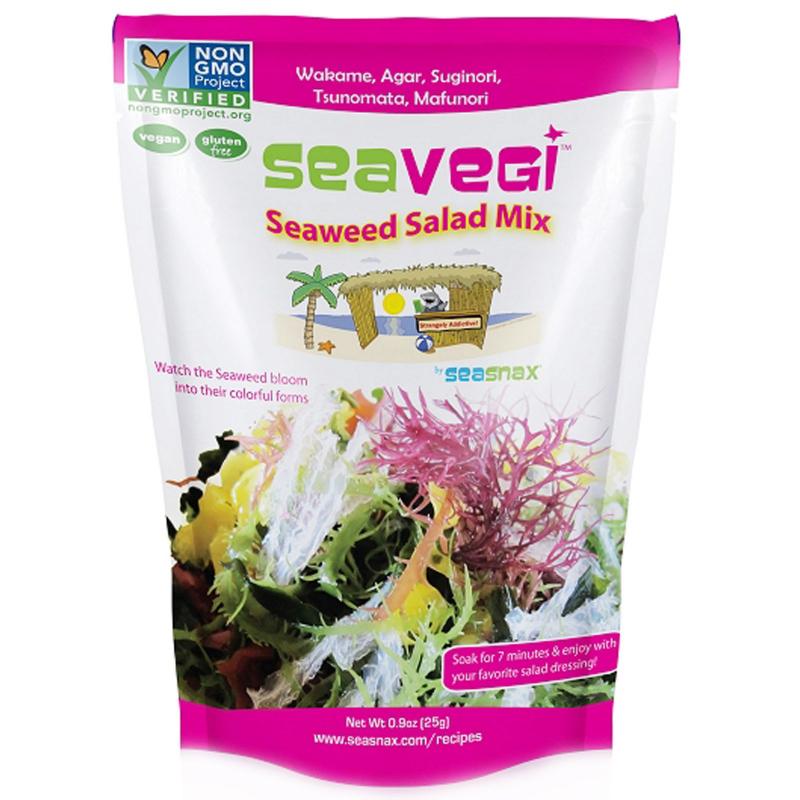 SeaSnax, SeaVegi, Seaweed Salad Mix, 0.9 oz (25 g)