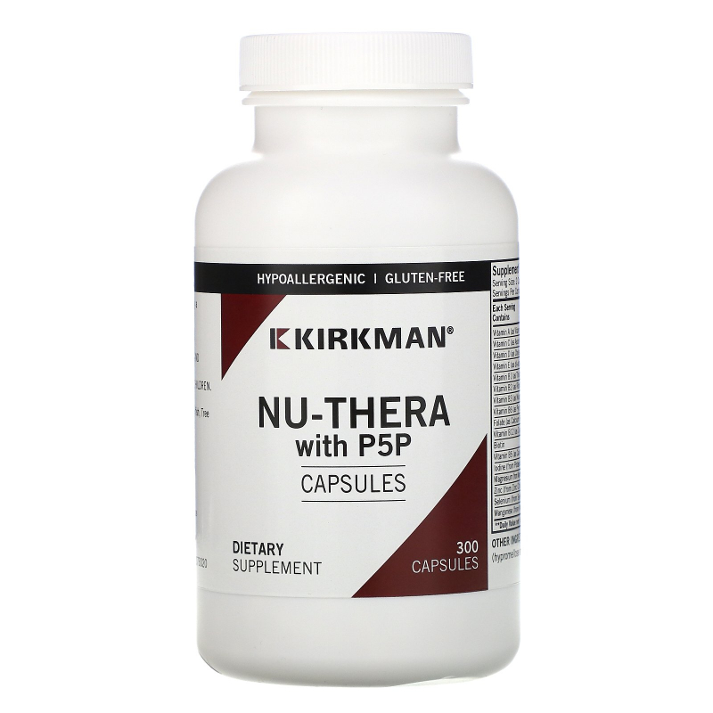 Kirkman Labs, Nu-Thera with 50 mg P-5-P, 300 Capsules