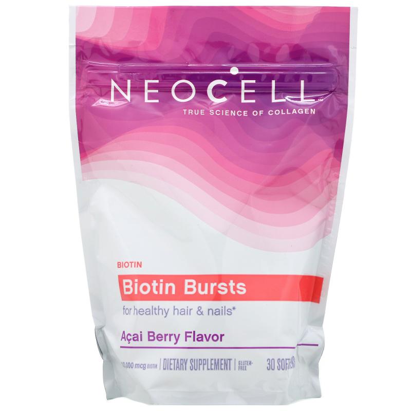 Neocell, Biotin Bursts, Brazilian Acai Berry, 30 Soft Chews