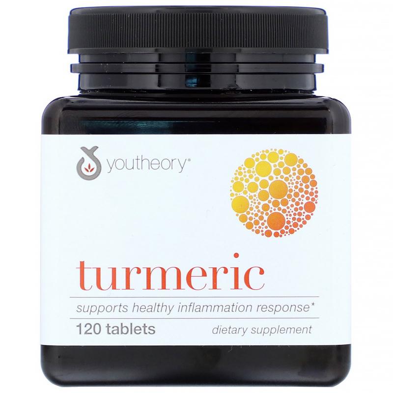 Youtheory, Turmeric, 120 Tablets