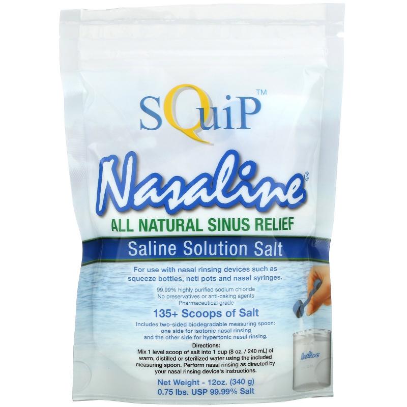 Squip, Saline Solution Salt, 12 oz (340 g)