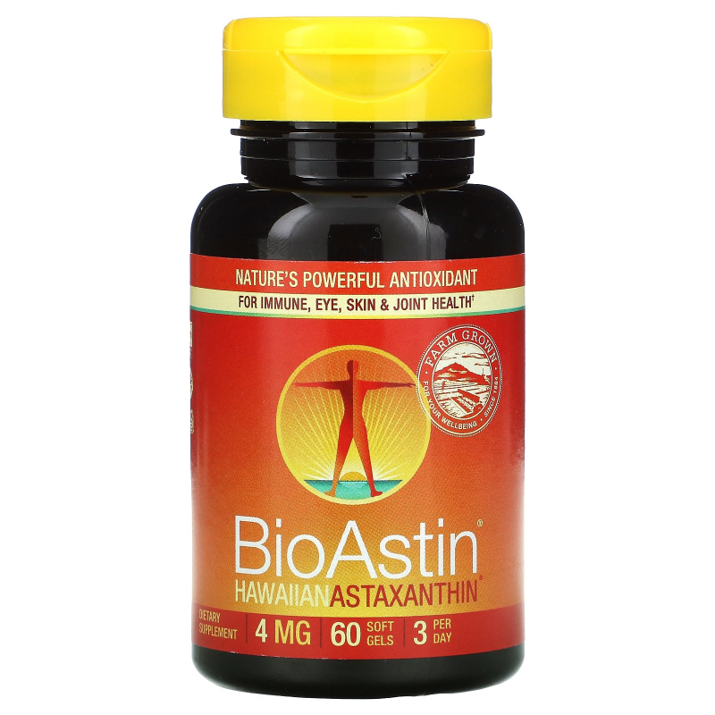 Nutrex Hawaii, BioAstin, Hawaiian Astaxanthin, 4 mg, 60 Gel Caps