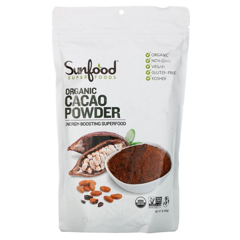 Sunfood, Organic Cacao Powder, 1 lb (454 g)