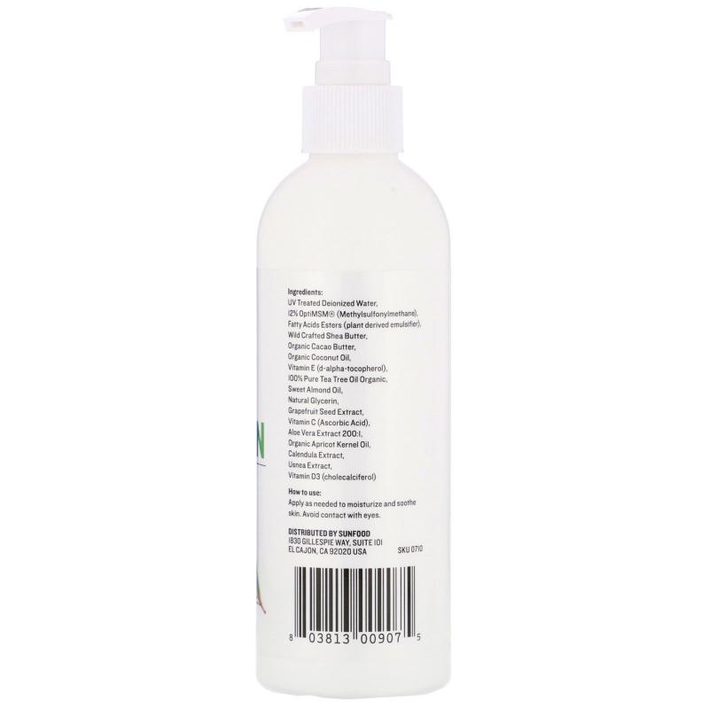 Sunfood, Medicinal MSM Lotion, Rejuvenating Cream, 8 fl oz (236 6 ml)