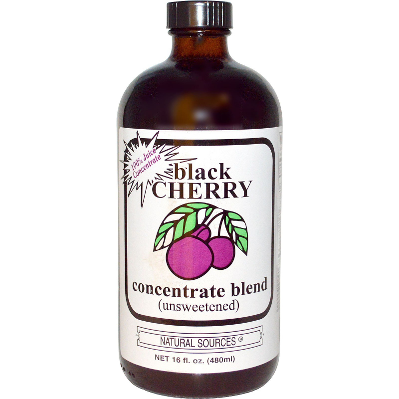 Natural Sources, Black Cherry Concentrate Blend (Unsweetened), 16 fl oz (480 ml)