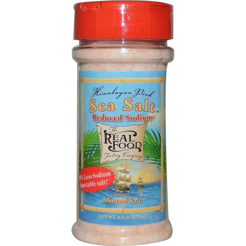 FunFresh Foods, The Real Food, Himalayan Pink Sea Salt, Reduced Sodium, 8.8 oz (250 g)
