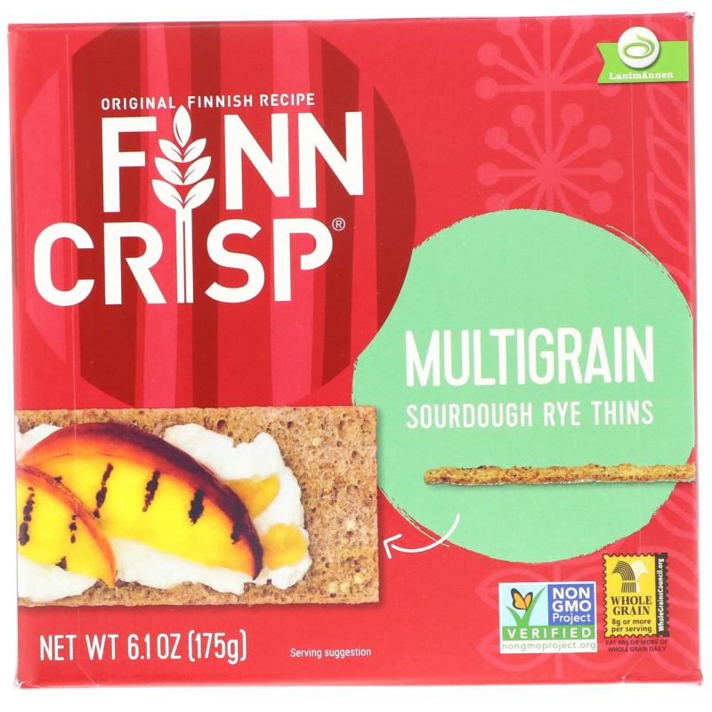 Finn Crisp, Multigrain Sourdough Rye Thins, 6.2 oz (175 g)