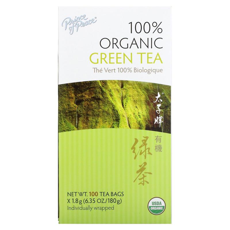 Prince of Peace, 100% Organic Green Tea, 100 Tea Bags, 1.8 g Each