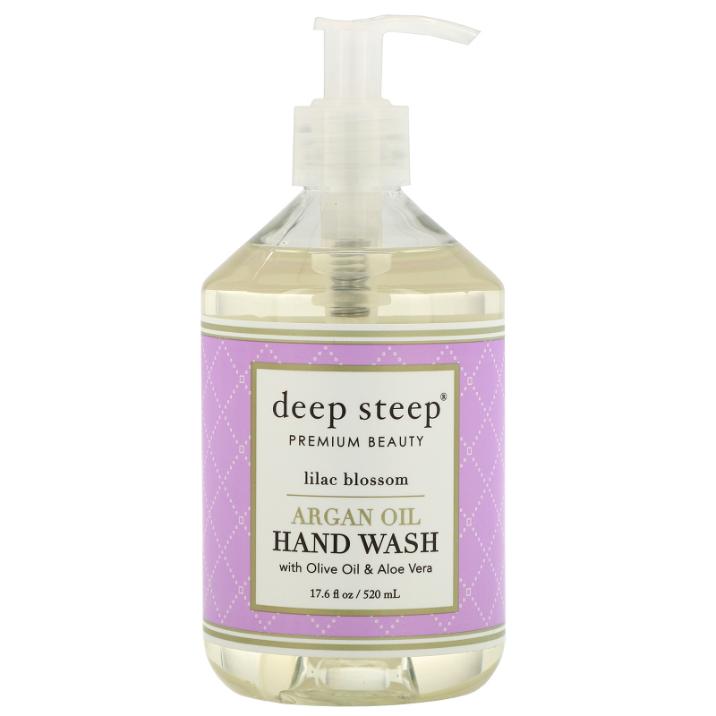 Deep Steep, Argan Oil Hand Wash, Lilac Blossom, 17.6 fl oz (520 ml)