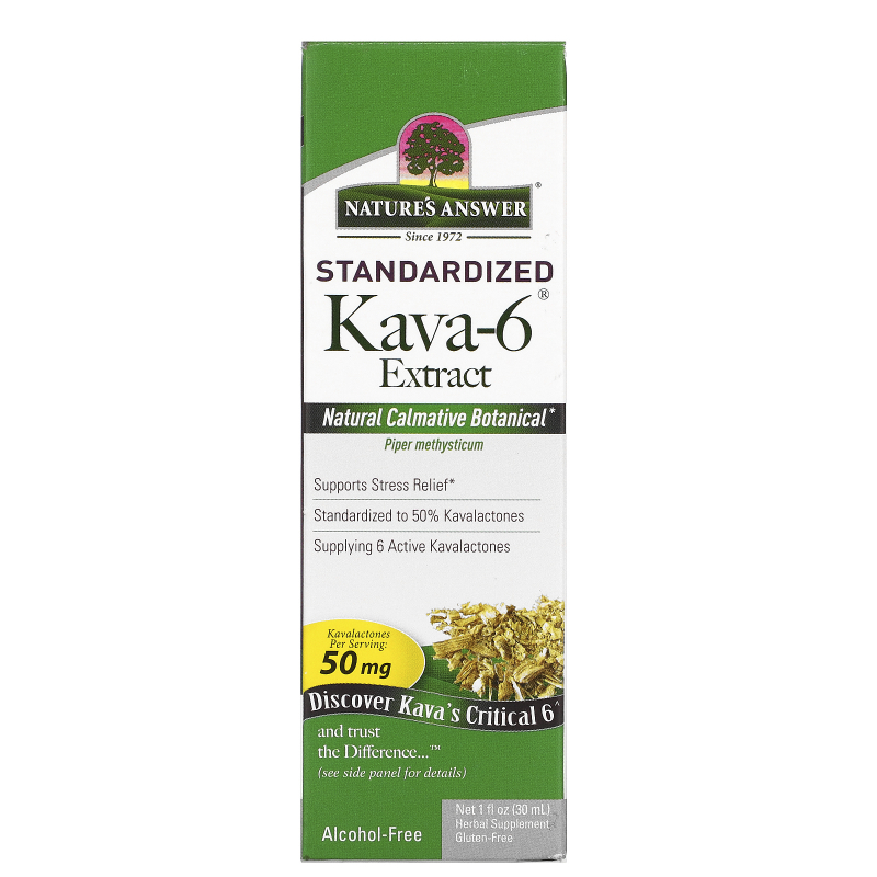 Nature's Answer, Kava-6, Alcohol-Free Extract, 1 fl oz (30 ml)