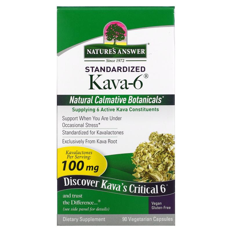 Nature's Answer, Kava-6, 90 Vegetarian Capsules