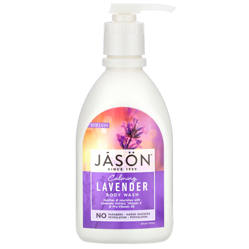 Jason Natural, Body Wash, Calming Lavender, 30 fl oz (887 ml)