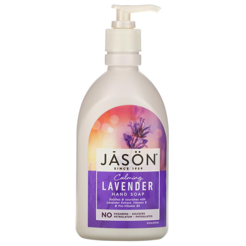 Jason Natural, Hand Soap, Calming Lavender, 16 fl oz (473 ml)