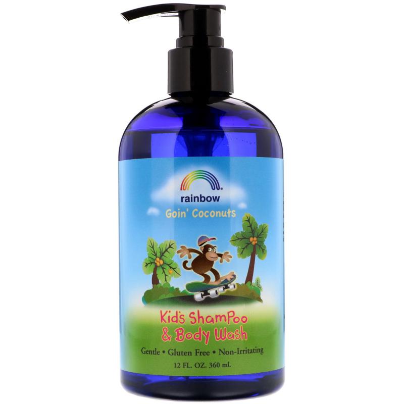Rainbow Research, Kid's Shampoo and Body Wash, Goin' Coconuts, 12 fl oz (360 ml)