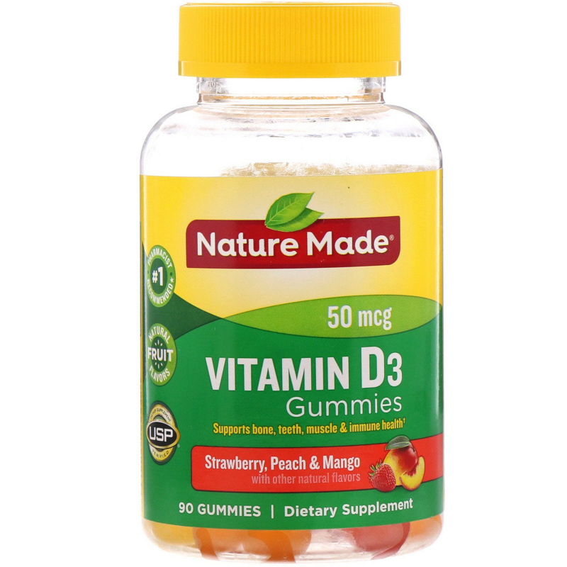 Nature Made, Adult Gummies, Vitamin D3, 90 Gummies