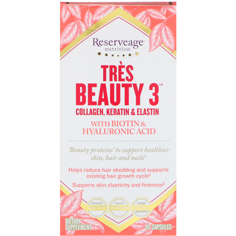 ReserveAge Nutrition, Tres Beauty 3, 90 Capsules