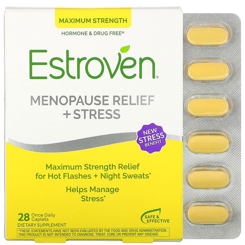 Estroven, Estroven, Maximum Strength + Energy, 28 Caplets