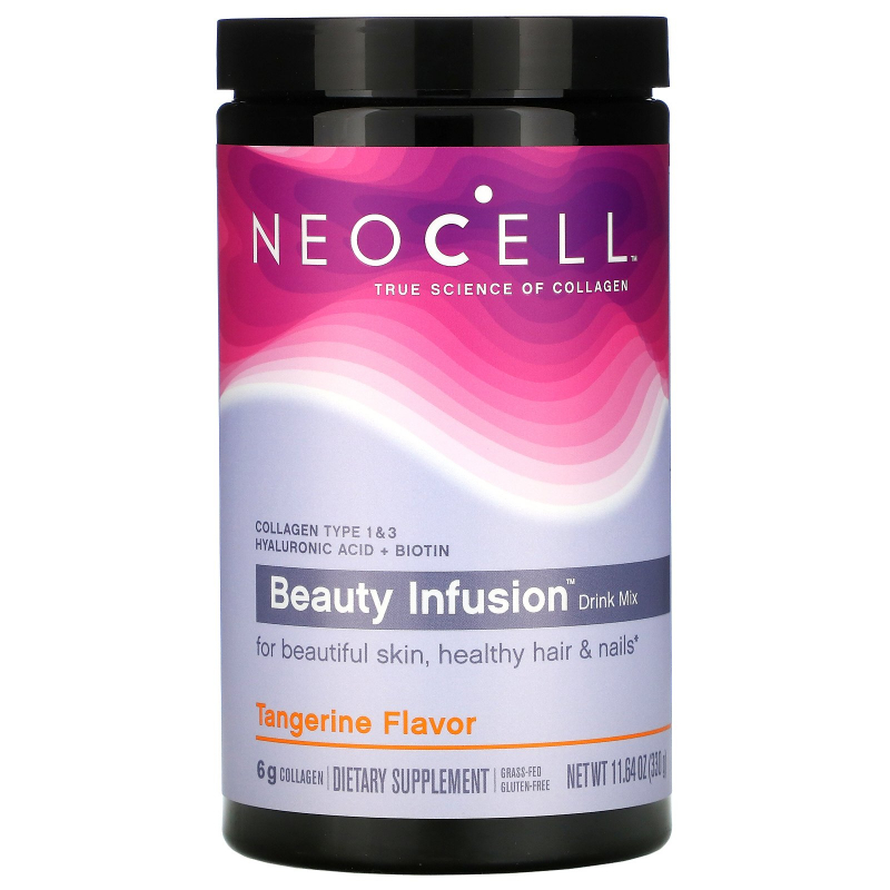 Neocell, Beauty Infusion, Refreshing Collagen Drink Mix,Tangerine Twist, 11.64 oz (330 g)