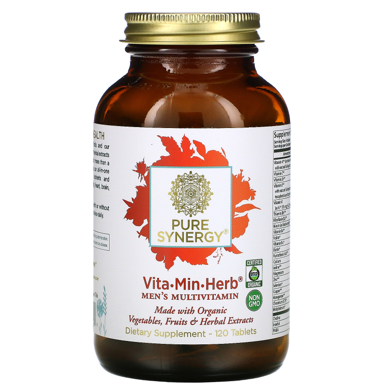 The Synergy Company, Vita·Min·Herb, Multi for Men, 120 Tablets