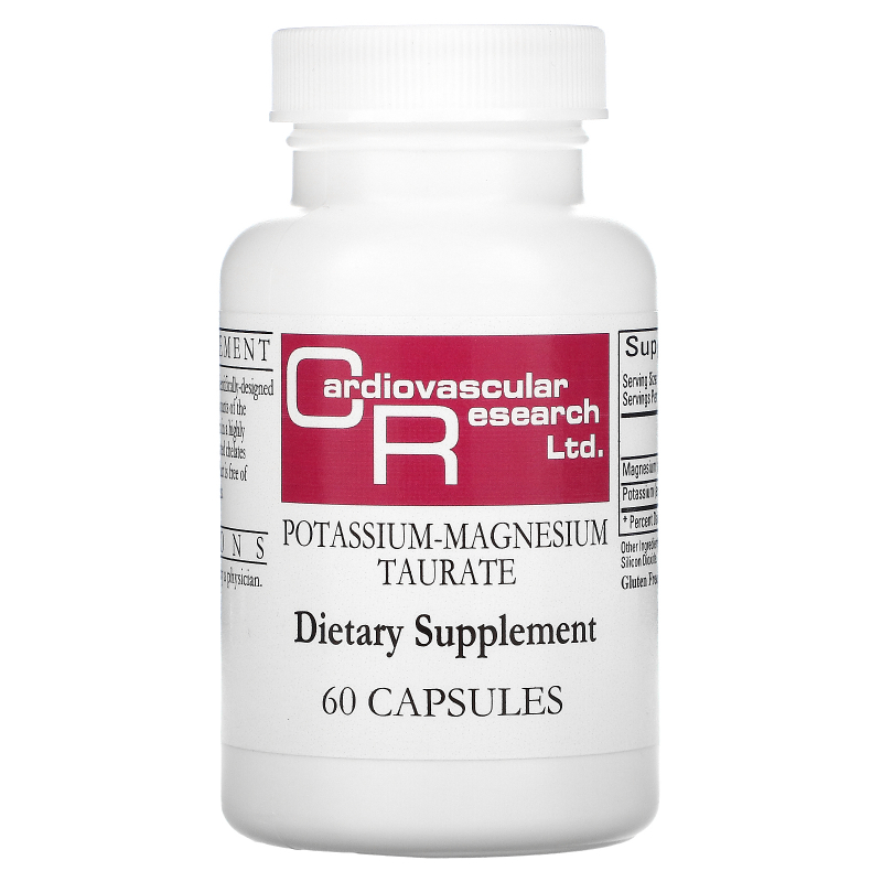 Cardiovascular Research Ltd., Magnesium-Potassium Taurate, 60 Capsules