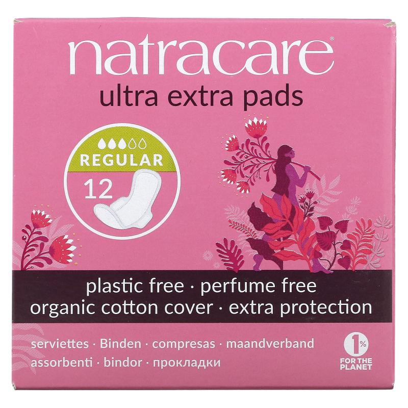 Natracare, Organic & Natural, Ultra Extra Pads, Normal, 12 Pads